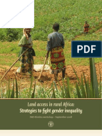 Land Access in Rural Africa - Strategies to Fight Gender Inequality