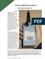 A Simple Handheld Hygrometer