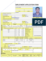 Employment Application Form ANIL
