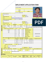 Employment Application Form Sandeep