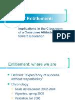 Fall 2005 social sem presentation Academic Entitlement - early vignette data