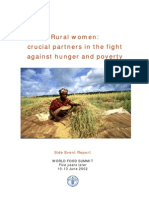 Rural Women ~ Crucial Partners in the Fight Against Hunger and Poverty