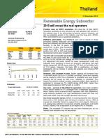 Thailand Renewable Energy 2015