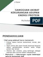Gangguan Akibat Kekurangan Asupan Energi Protein