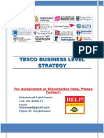 TESCO Business Level Strategy