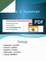 Analysis of Mark & Spencer (M&S)