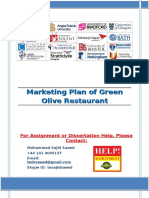 Marketing Plan of Green Olive Restaurant