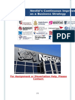 Nestlé's Continuous Improvement as a Business Strategy