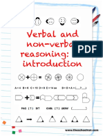 Verbal and Non Verbal Reasoning Learning Pack
