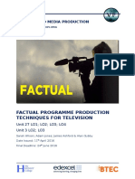 unit 27 factual programme brief