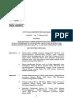 KM No 76 Th 2003 - Master Plan Frekuensi Siaran Televisi Analog UHF