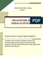 9 Transistor Sebagai Penguat