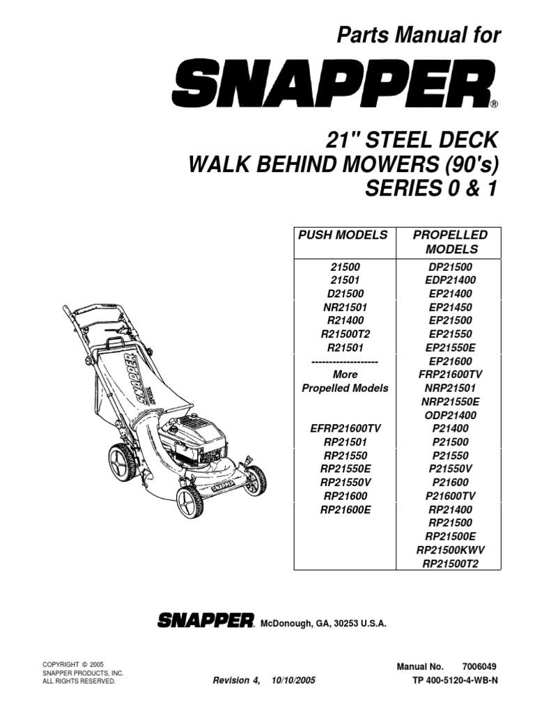Snapper Parts Diagram 1545782837v1