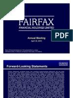 Fairfax 2010 AGM Slide Presentation