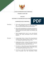 Peraturan KPI No.01 Th.2007 Tentang Kelembagaan KPI
