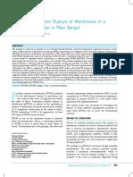 2013 Chakraborty Outcome of Prelabor Rupture of Membranes