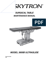 Skytron Table Manual