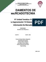 Unidad III La Segmentacion Y El Sistema de Información de Mercados