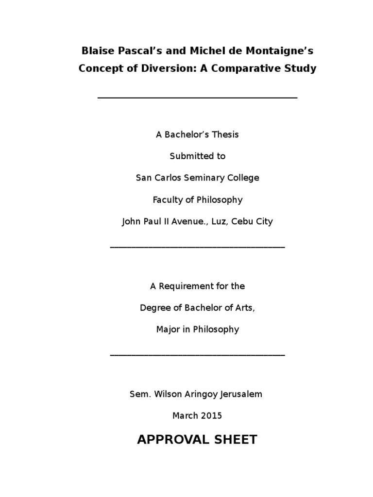 Blaise Pascals And Michel De Montaignes Concept Of Diversion A  Blaise Pascals And Michel De Montaignes Concept Of Diversion A  Comparative Study  Authenticity Philosophy  Michel De Montaigne