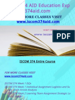 ISCOM 374 AID Education Expert-Iscom374aid.com