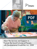 Services and Supports to Promote the Social Inclusion of Persons with Developmental Disabilities