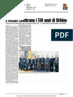 I rettori celebrano i 510 anni di Urbino - Il Corriere Adriatico del 7 aprile 2016
