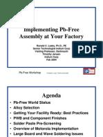 Pb Free Workshop by Ron Lasky of Indium 2003