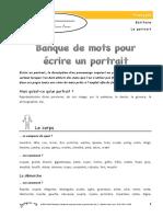 Banque de Mots Portrait