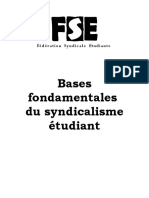 Base Fondamentales Du Syndicalisme c3a9tudiant