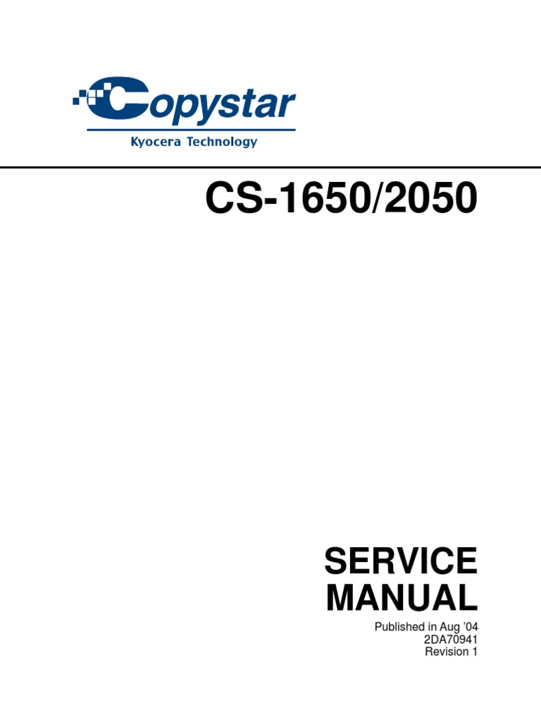 Copystar Copier Cs 1650 2050 Parts Service Image Scanner Figno1 Simple Wiring Diagram For A Residential Building Electrical Connector