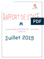Rapport de Stage La Perception(1)