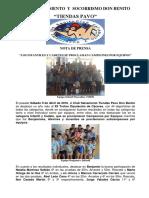 Nota de Prensa SALVAMENTO 09-04-16