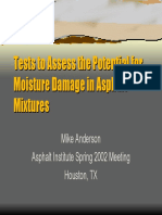 Test to Acess the Potencial for Moisture Damage in Asphalt Mixtures