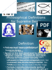 philosophical definitions for supreme being