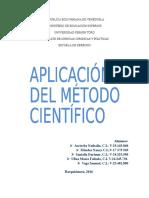 Metodologia, Aplicacion Del Metodo Cientifico