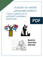 Comunicación No Verbal en Un Personaje Político