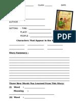 Task Sheet for the King of Kites