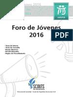 01- Lineamientos Anuales - Foro de Jóvenes 2016