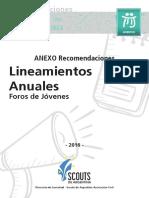 02 - Anexo Recomendaciones - Foro de Jóvenes 2016