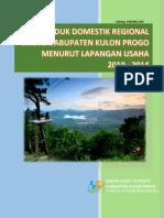 PDRB Menurut Lapangan Usaha Kabupaten Kulon Progo 2014