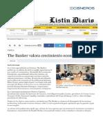 Listín Diario. The Banker valora crecimiento economía del país.