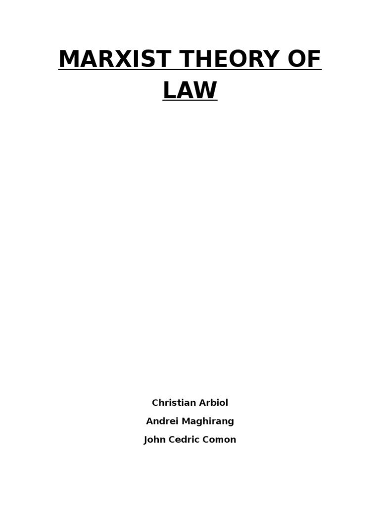 Marxist theory and the law