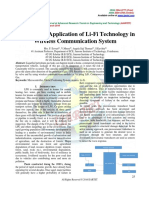 A Real Time Application of Li-Fi Technology in Wireless Communication System