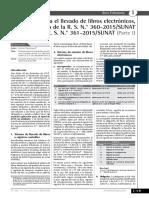 Boletín Tributario - Novedades Para El Llevado de Libros Electrónicos, A Propósito de La RS 360 - 2015 y 361 - 215 SUNAT - I PARTE
