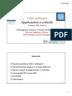 IDMSoftware Applicazioni e Criticità in Ingegneria