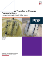 Study of Mass Transfer in Viscous Fermentations