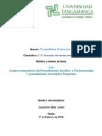 Cuadro Comparativo SISTEMAS de REGISTRO- Jacqueline Mata Loredo