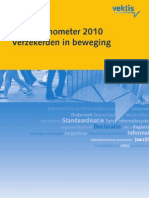Vektis Zorgthermometer 2010 Verzekerden in beweging