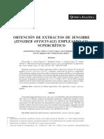 Extraccion de extractos de Jengibre