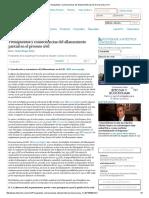 Presupuestos y Consecuencias Del Allanamiento Parcial en El Proceso Civil